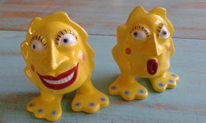 whimsical salt and pepper shakers