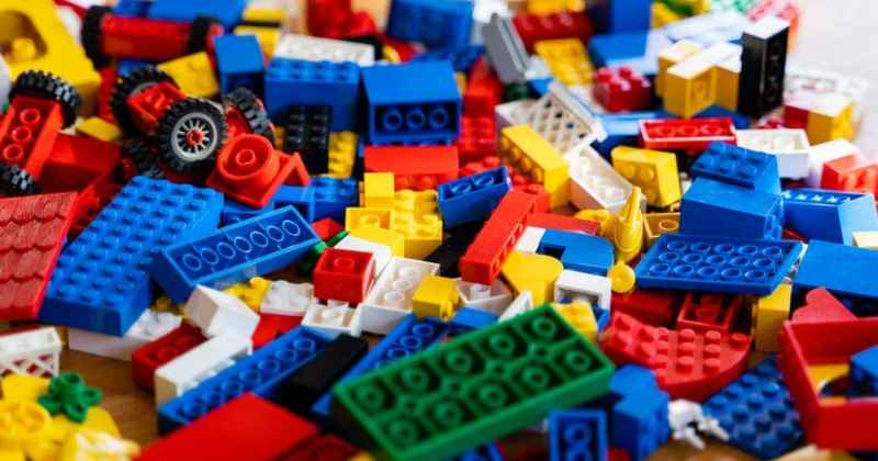 pile of multicolored construction set scattered on floor