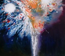 Fountain, 2010, oil/canvas, 60x70 inches
