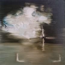 Predator 5, 2012, oil/canvas, 14x14 inches