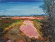 Road, 2013, oil/canvas, 12x16 inches. PRIVATE COLLECTION (UK)