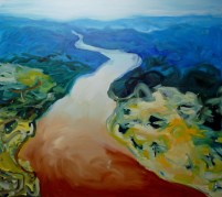 River (12), 2009, oil on canvas, 54 x 60 inches