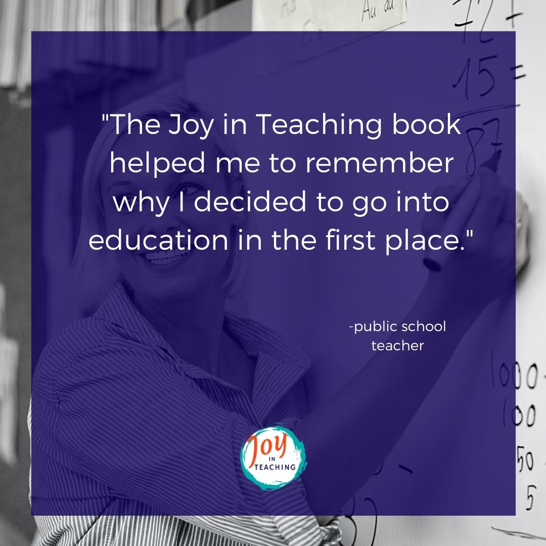 Testimonial for Joy in Teaching
