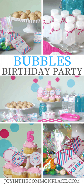 Host A Simple Bubbles Birthday Party
