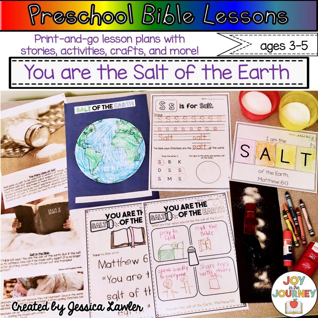 Preschool Bible Lessons Salt Of The Earth