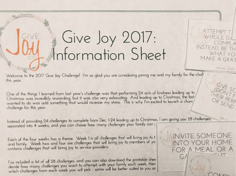 #GiveJoy 2017 Challenge: Advent Joy