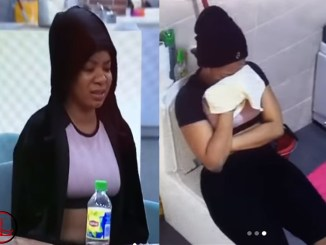 BBNaija: Moment Queen Weeps Bitterly Over The Death Of Her Fish, Green (VIDEO)