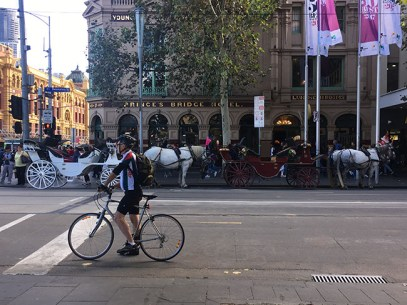 Riders have to wear helmets because of the compulsory helmet law in Melbourne. Photo: Sijia Huang