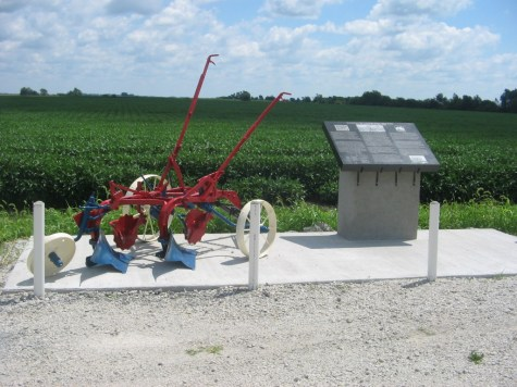 Marker near where President Truman gave a speech at the 1948 National Plowing Match