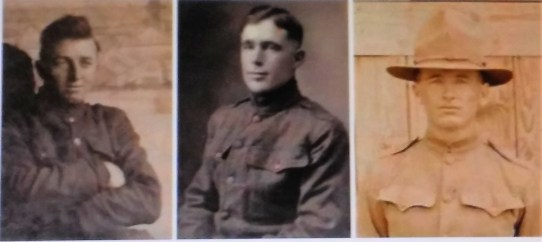 Brothers Merl, Wayne, and Jennings Goff--WWI