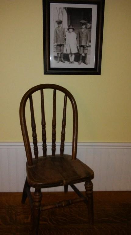 Little chair from Dexter's Presbyterian Church