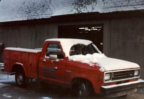 "Our ""Hugger Orange"" Service Trucks circa 1980's."