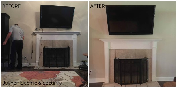 Joyner Electric & Security - Before & After Exposed TV Cables