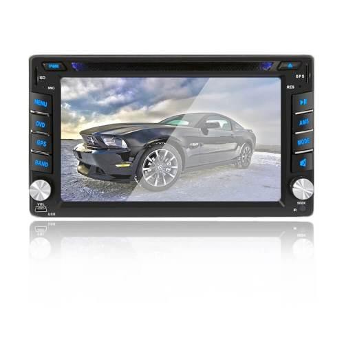 Navegação estereofónica de GPS do reprodutor de DVD do In-Traço do carro dobro do RUÍDO para o carro com câmera de vista traseira, navegação autónoma de GPS do apoio