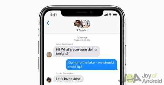 mensagens de grupo iMessage para iPhone