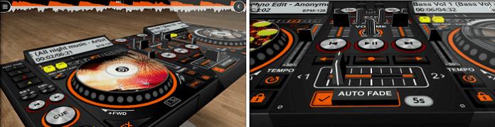 Interface do usuário 3D DiscDJ