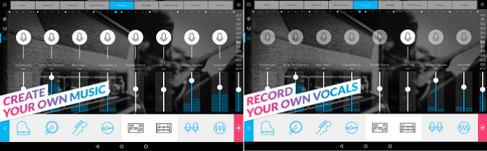 Interface do usuário do Music Mixer