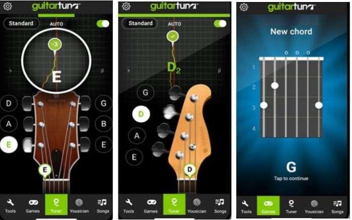App de afinador GuitarTuna