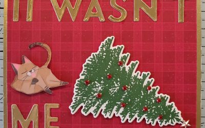 Playful Pets Christmas Card