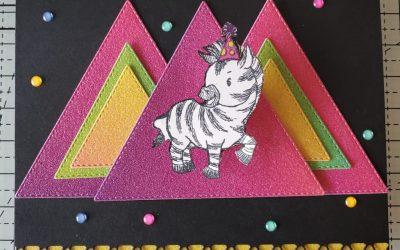 Zany Zebras Birthday Card Stampin' Up!