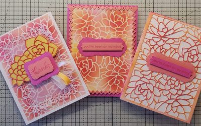 3 Cards One Die Potted Succulents Stampin Up