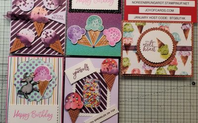 5 Sweet Ice Cream Cards Stampin Up