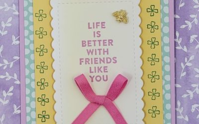 Easy Swap Card Featuring Flowers of Friendship