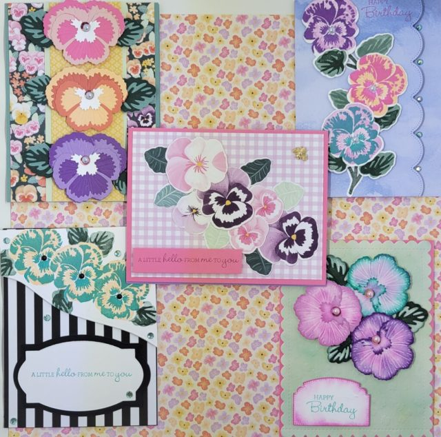 All 5 of the Pansy Patch Cards See video times below