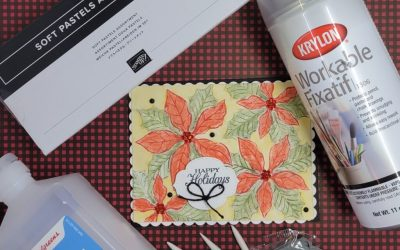 Stampin Up Soft Pastels Techniques Featuring Poinsettia Petals