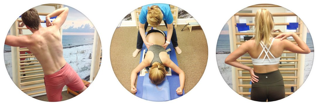 Scoliosis patients in treatment sessions