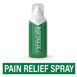 Can of BioFreeze, pain relief spray