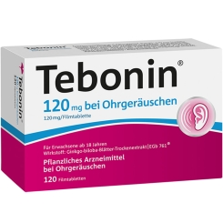 Tebonin循例寧 konzent 120mg 用於耳鳴120顆