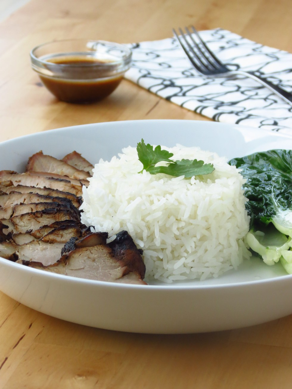Chinese Barbecue Pork (Char Siu) and Bak Choy Rice Bowl