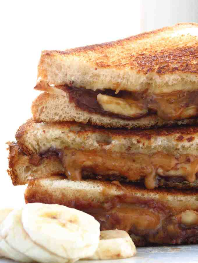 Nutella Cookie Butter Banana Grilled Cheese