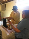 Jamie mixing dyes with LynnEl