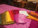 All of my finished dyed fabrics