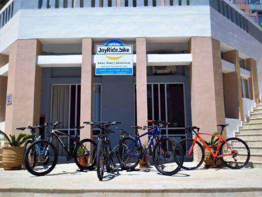 JoyRide.Bike station in Fodele Beach Heraklion