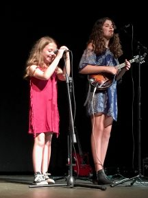 Joy Party - Ella singing with sister