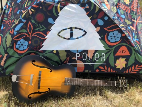 Poler Tent and Epiphone