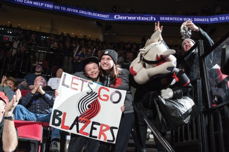 Trail Blazers vs. the The Dallas Mavericks on January 31st, 2017. Justin Tucker / Trail Blazers