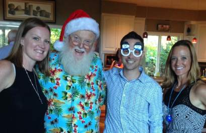 Courtney, Santa, John, Allison