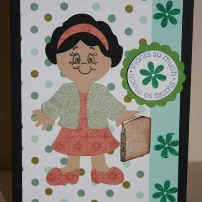 Paper Doll Teacher Card & Fixing a Stamping Mistake