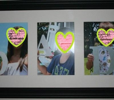 "Father's Day Photo Project – ""DAD"" Letter Pictures Framed"