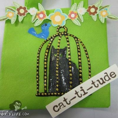 Painted Cat Bag using Cricut Meow, Tulip Fabric Paint, Viva Decor Pens & Vinyl + Cricut Imagine