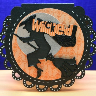 Gypsy designed Wicked Witch Card Cricut & Cricut Lite cartridge