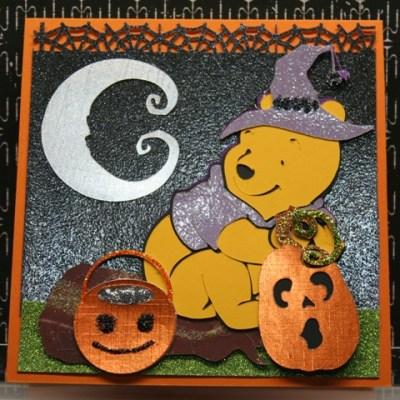 Cricut Pooh Halloween Card