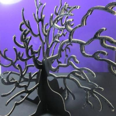 Spooky Home Decor Tree using Cricut Happy Hauntings – GIVE AWAY