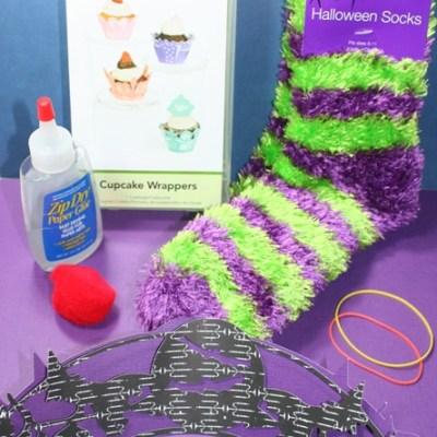 Cricut Lite Cupcake Wrapper Witch Socks