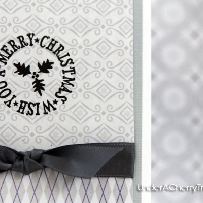 Wish You a Merry Christmas Card All Around Sentiments Stamp