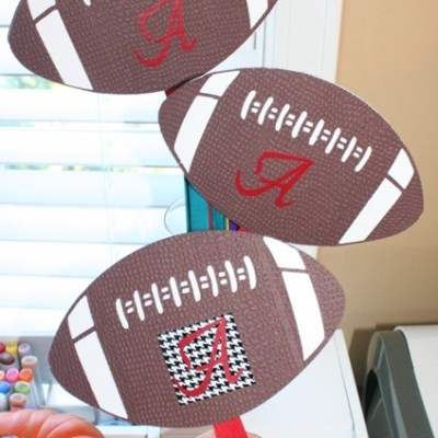 Alabama Crimson Tide Cricut Football Fan – Football Friday Post